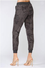 Max Raw Edge Tie Dye Joggers charcoal back MILK MONEY