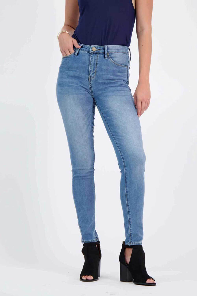 Milk Money High-Rise Skinny Jeans blue - MILK MONEY