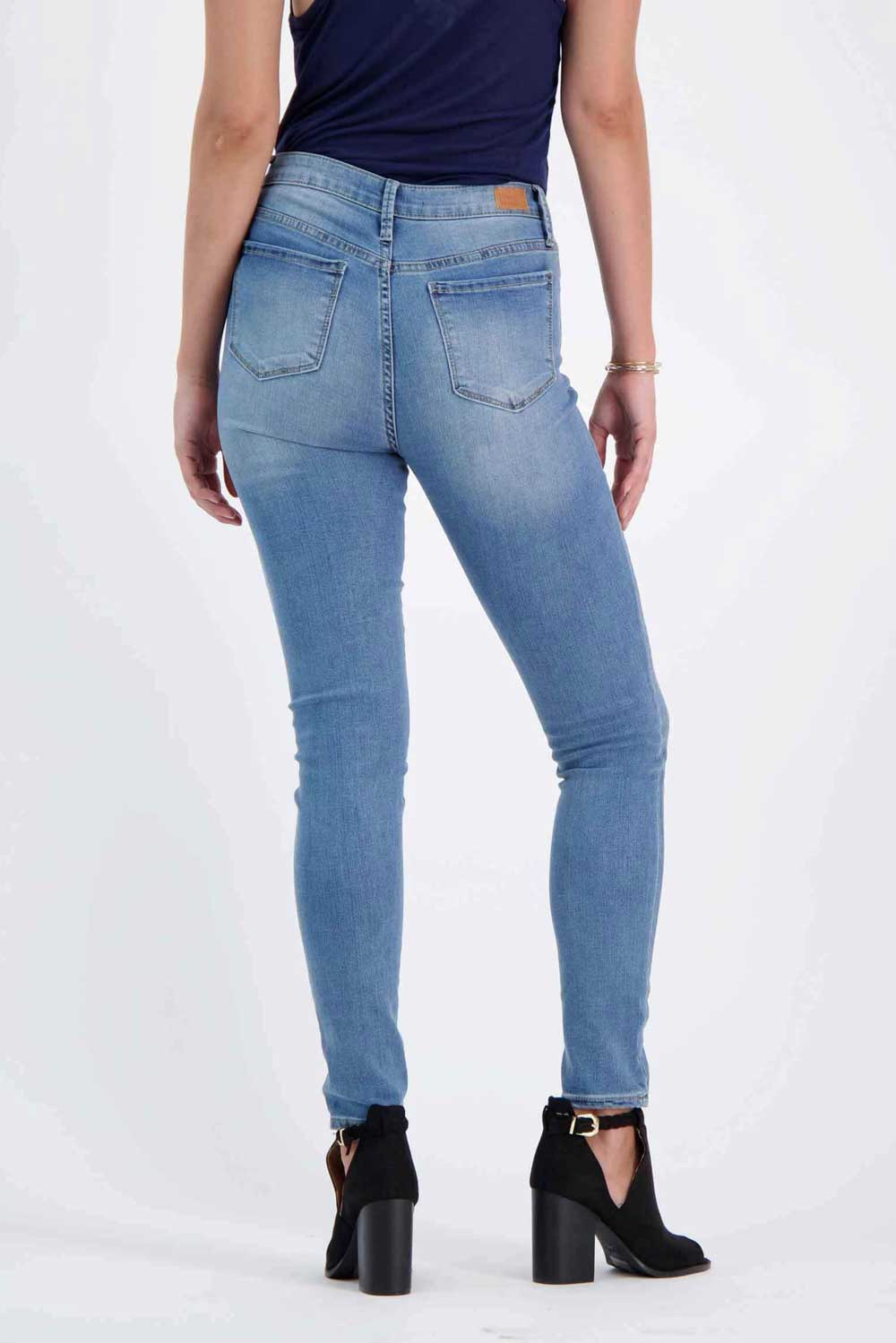 Milk Money High-Rise Skinny Jeans blue back -MILK MONEY