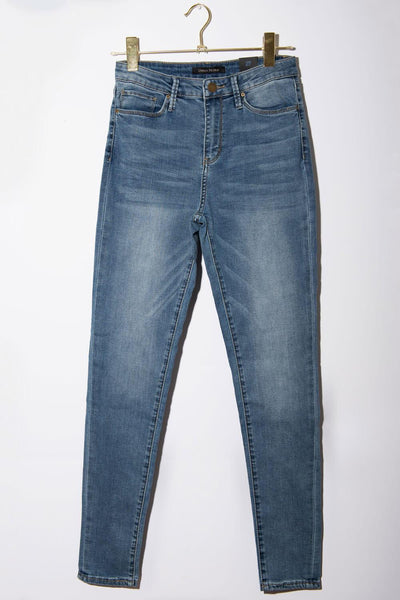 Milk Money High-Rise Skinny Jeans blue front MILK MONEY