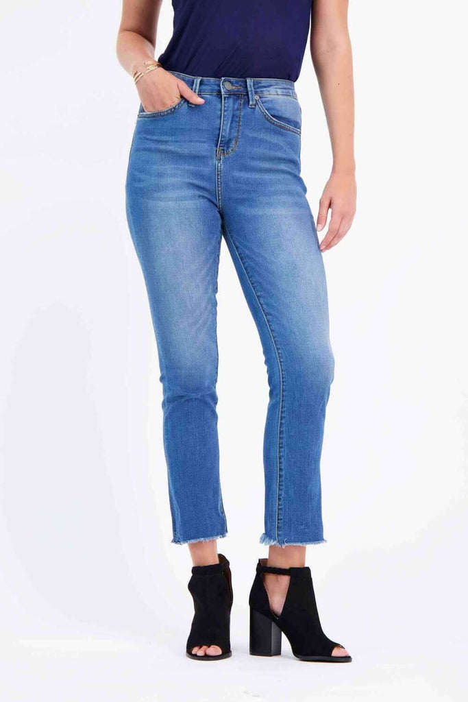 Milk Money High-Rise Slim Jeans Blue - MILK MONEY