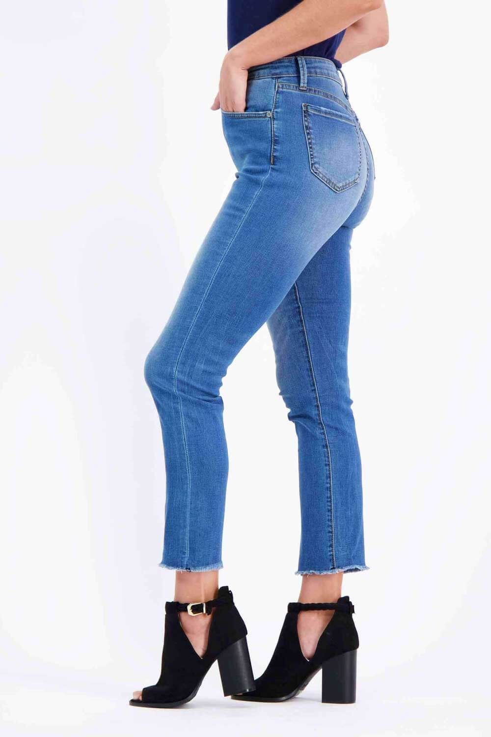 Milk Money High-Rise Slim Jeans Blue Side - MILK MONEY