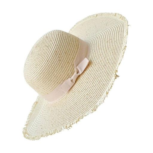 Sparkle Straw Floppy Hat front natural gold | MILK MONEY milkmoney.co | cute hats for women. hats and beanies. cute womens hats. pretty hats. cute bucket hats for women