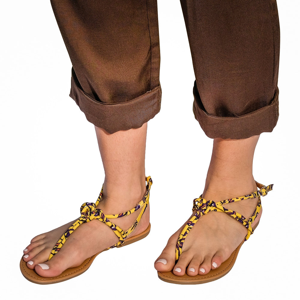 Fiji Sandal in Yellow
