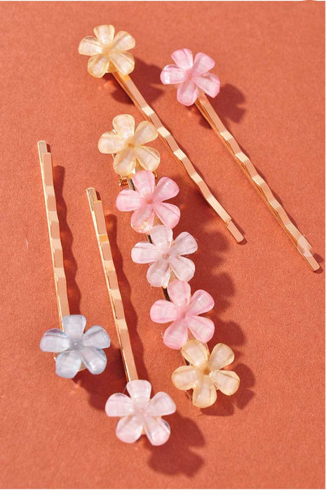 Mini Flower Hair Clip Set group MILK MONEY