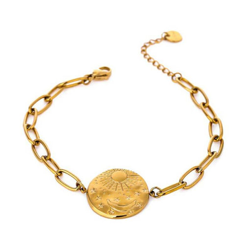 Moon and Star Pendant Bracelet gold MILK MONEY