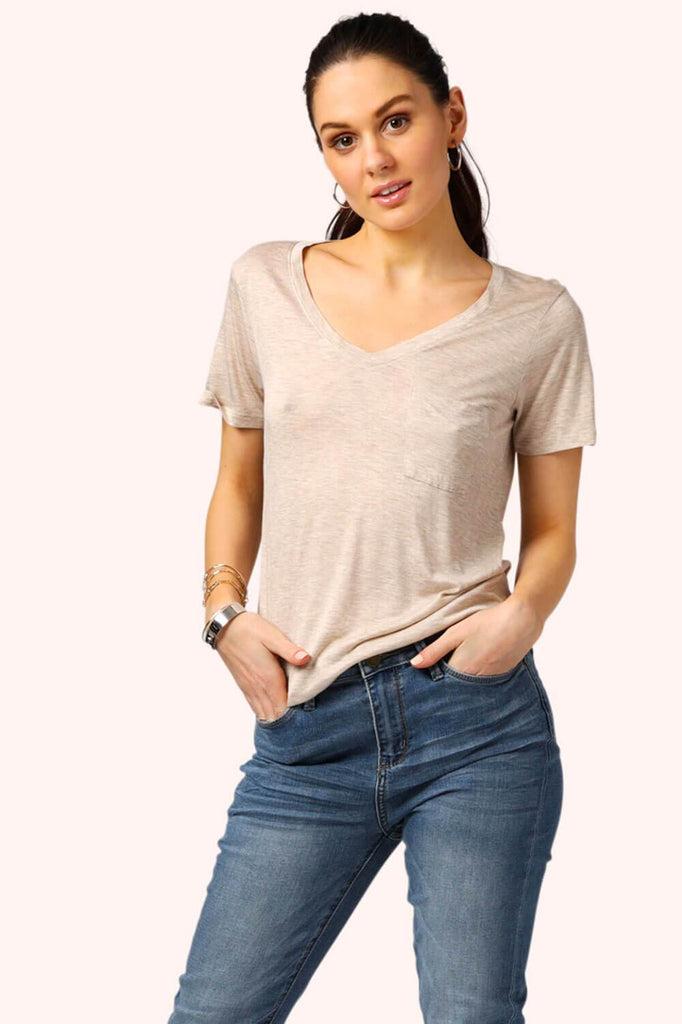 My Sexy Boyfriend V-Neck Tee Oatmeal MILK MONEY