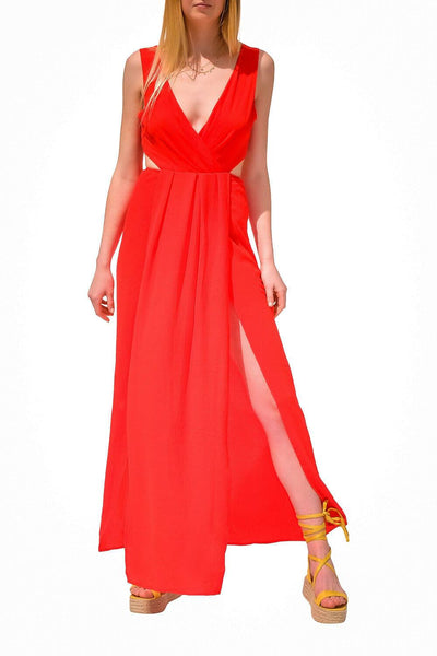 Night Out Cut Out Dress Red - MILK MONEY
