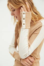 Free People Tasha Thermal - Ochre detail MILK MONEY