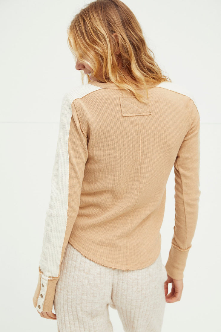 Free People Tasha Thermal - Ochre back MILK MONEY