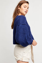 Free People Sea Bright Pullover vanguard side MILK MONEY