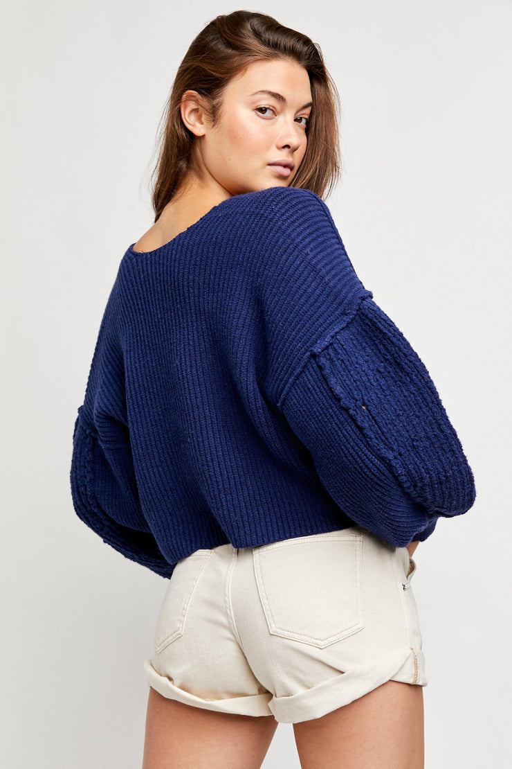 Free People Sea Bright Pullover vanguard back MILK MONEY