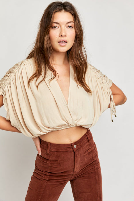 Free People Rachel Silky Top pearl island front MILK MONEY