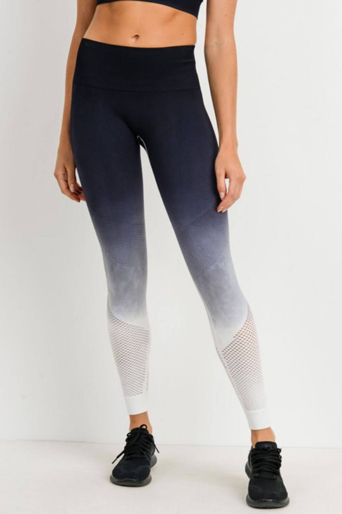 Ombre Leopard Dip-Dye Seamless Perforated Leggings MILK MONEY