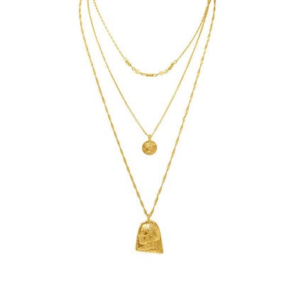 Orla 3 Piece Necklace Set Gold _ MILK MONEY