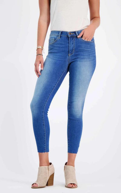 Mid-Rise Ankle Cut Jeans blue -MILK MONEY