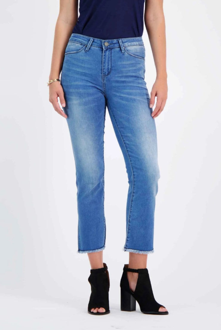 High-Rise Mini Boot Jeans