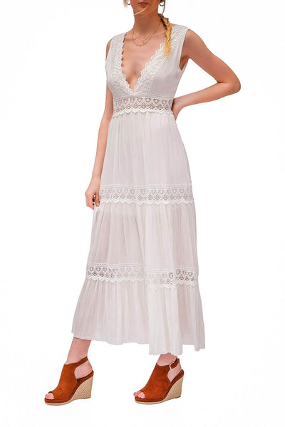 Palm Springs Lace Dress White - MILK MONEY