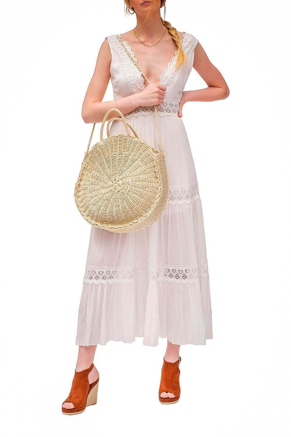 Palm Springs Lace Dress White lifestyle - MILK MONEY