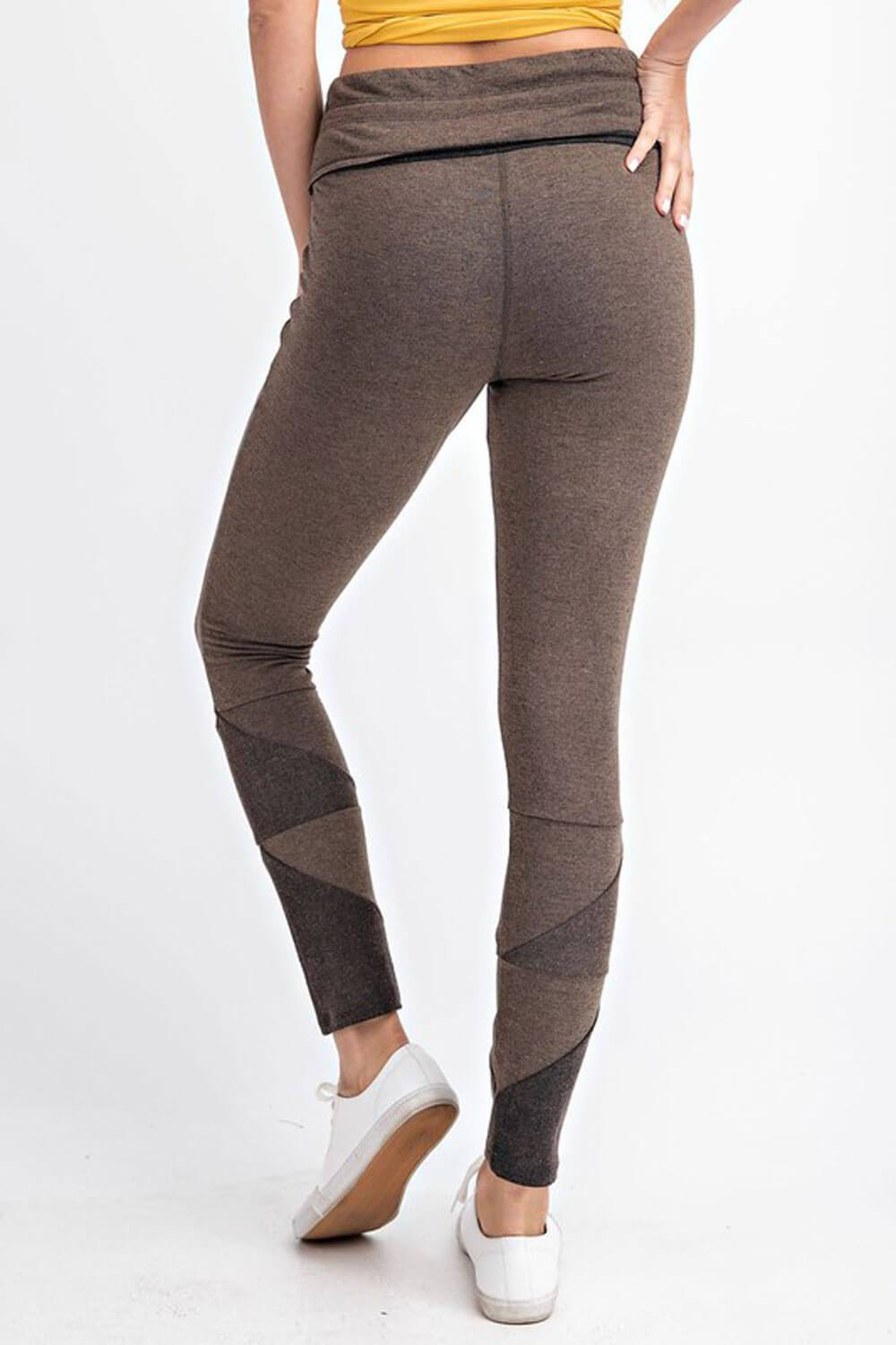 Patchwork French Terry Joggers chocolate back MILK MONEY