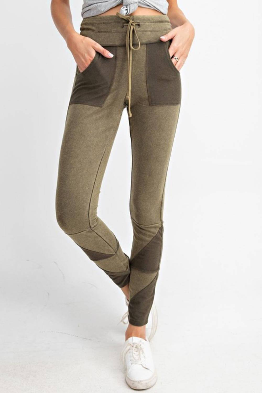 Patchwork French Terry Joggers olive MILK MONEY