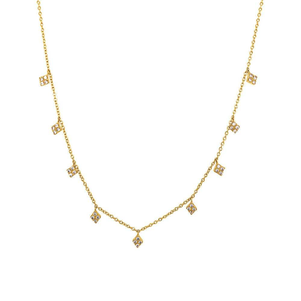 Pavé Diamond Layering Necklace Gold - MILK MONEY