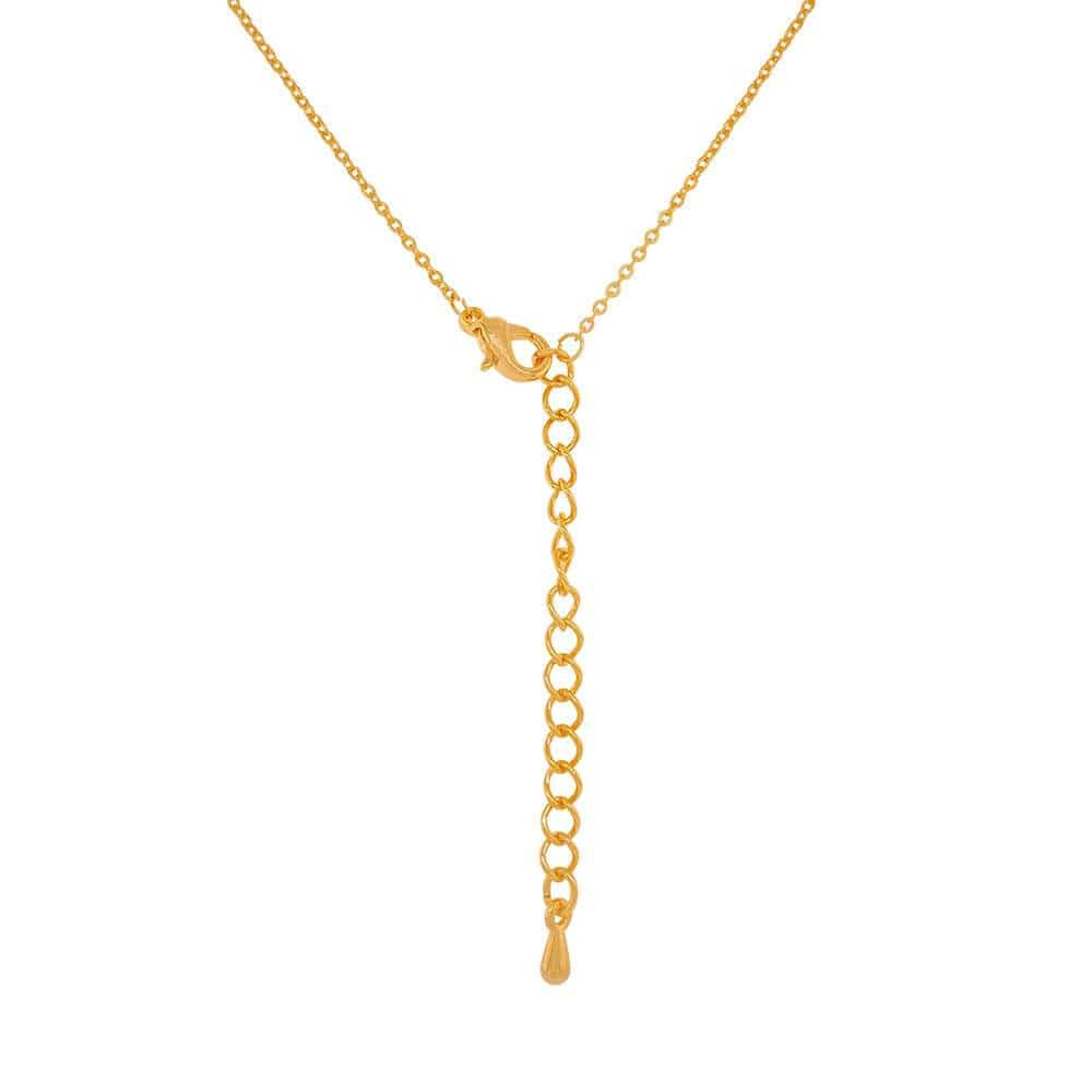 Pavé Evil Eye Charm Necklace gold back MILK MONEY