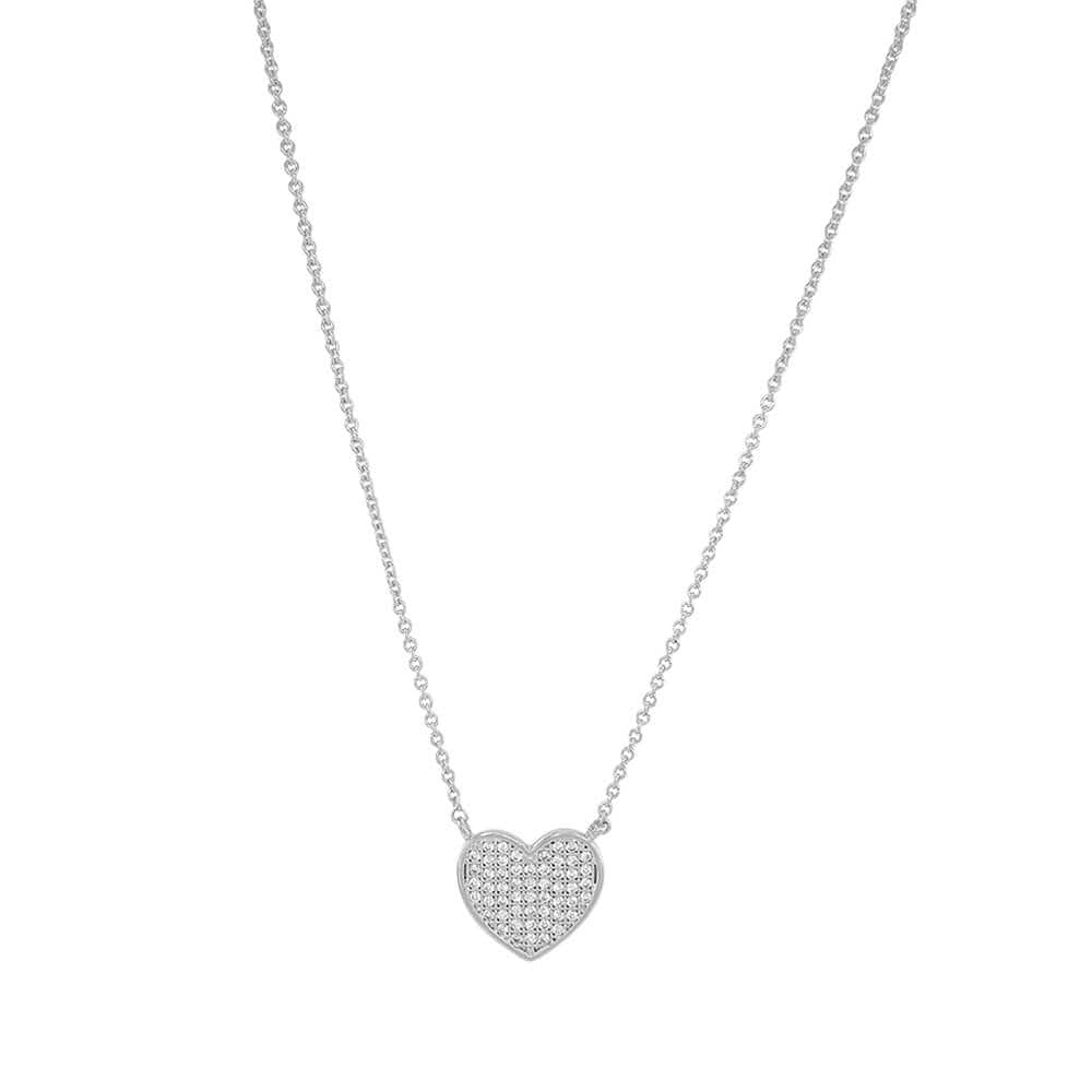 Pavé Heart Necklace silver MILK MONEY