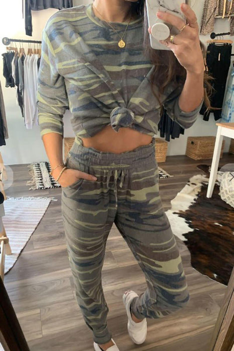 Penny Lounge Top camo front MILK MONEY