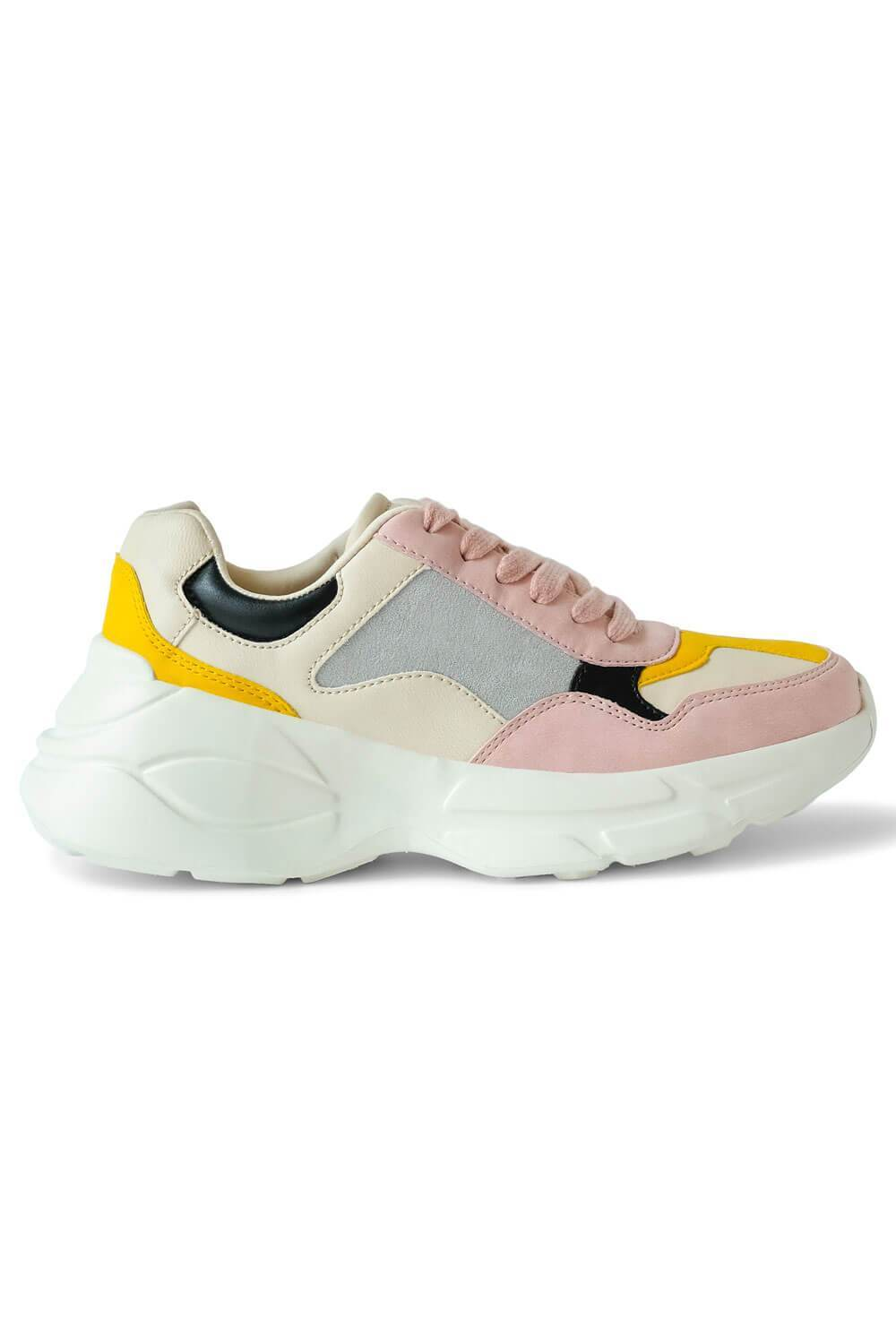 Piers Pink Sneaker Womens side - MILK MONEY