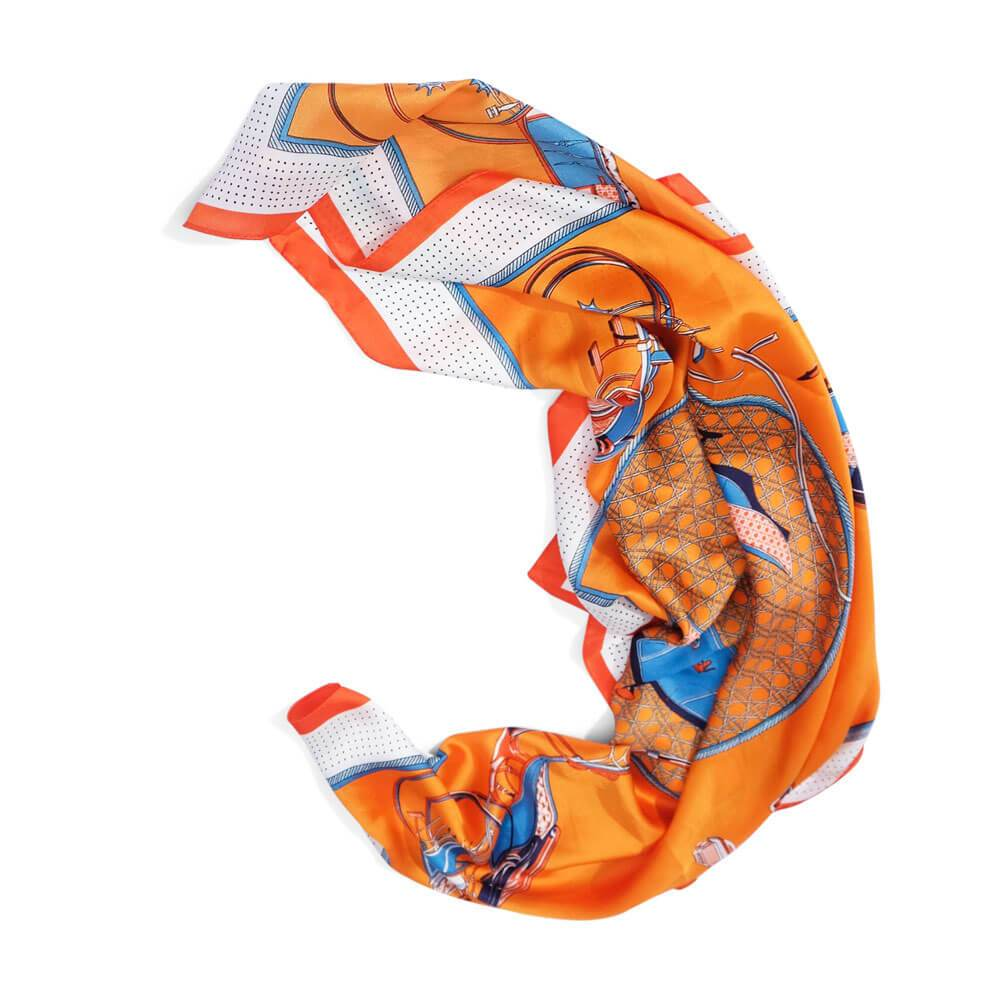 Polo Silk Scarf Orange - MILK MONEY