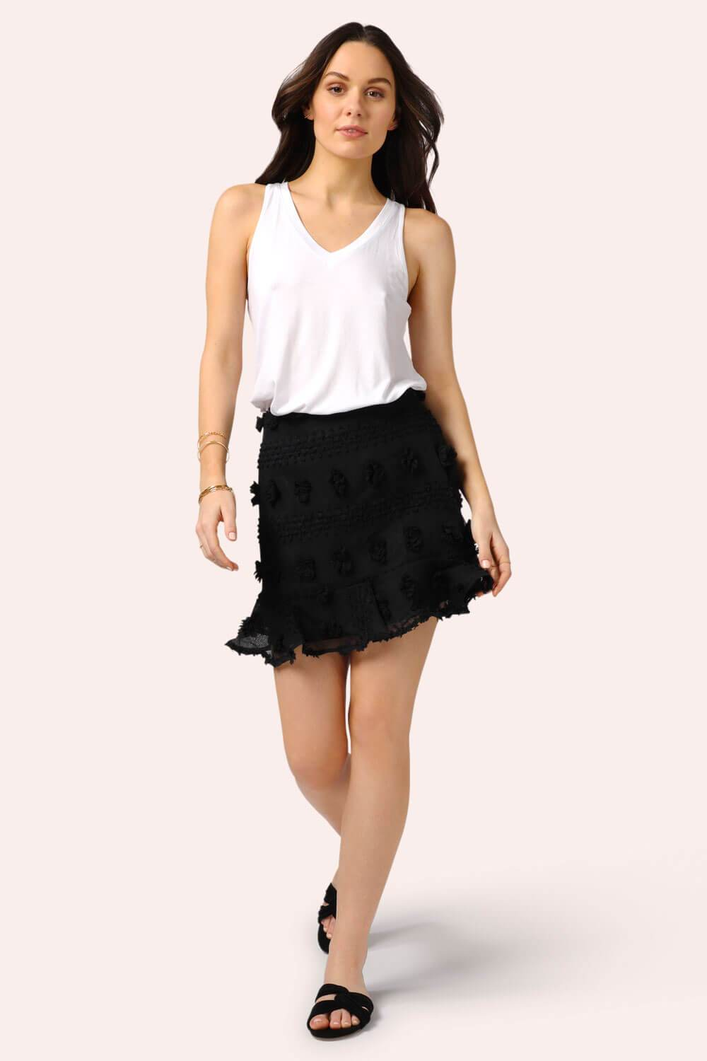 Pom Pom Mini Skirt Black MILK MONEY