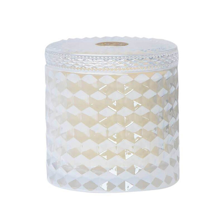 Prosecco Shimmer Double Wick Candle white closed MILK MONEY