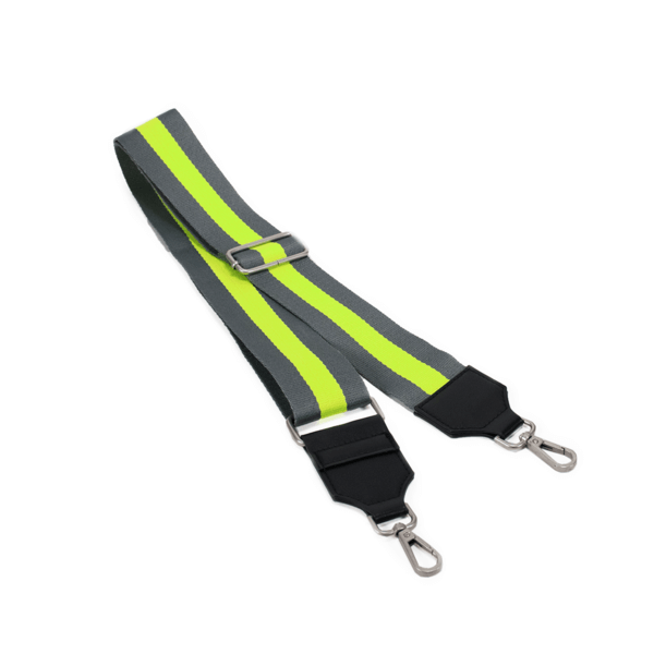 Crossbody Striped Bag Strap Neon Green - MILK MONEY