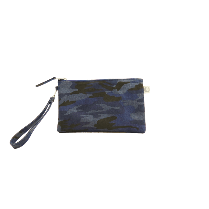 Mini Luxe Clutch Custom Bag Blue Camo -MILK MONEY