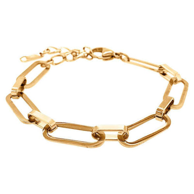 Rectangle Chain Link Bracelet Gold - MILK MONEY