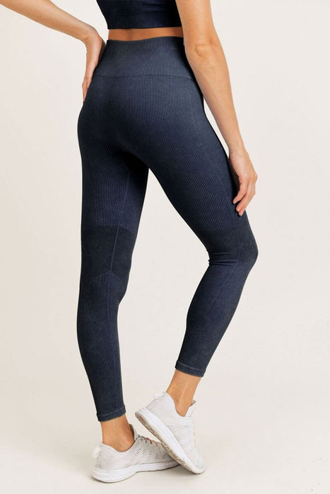 Ribbed Seamless Highwaist Leggings black back MILK MONEY