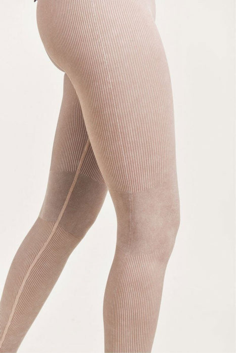 Ribbed Seamless Highwaist Leggings mushroom detail MILK MONEY