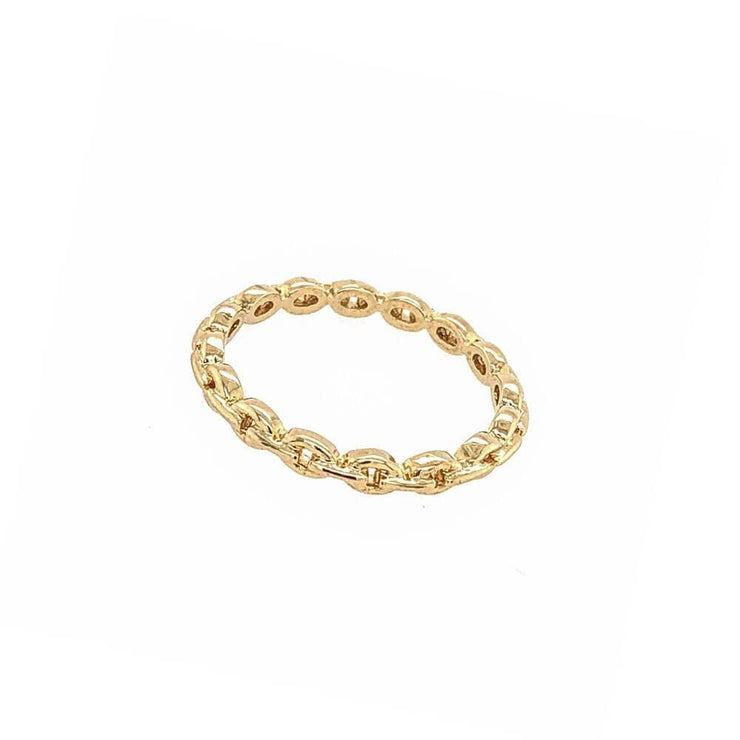 Riley Chain Ring Gold - MILK MONEY