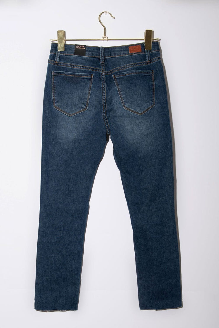 Sabrina Skinny Ankle Cut Jeans dark wash back MILK MONEY