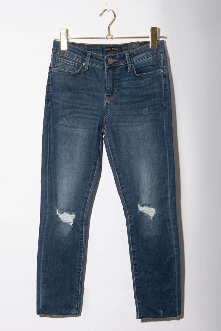 Sabrina Skinny Ankle Cut Jeans dark wash front MILK MONEY
