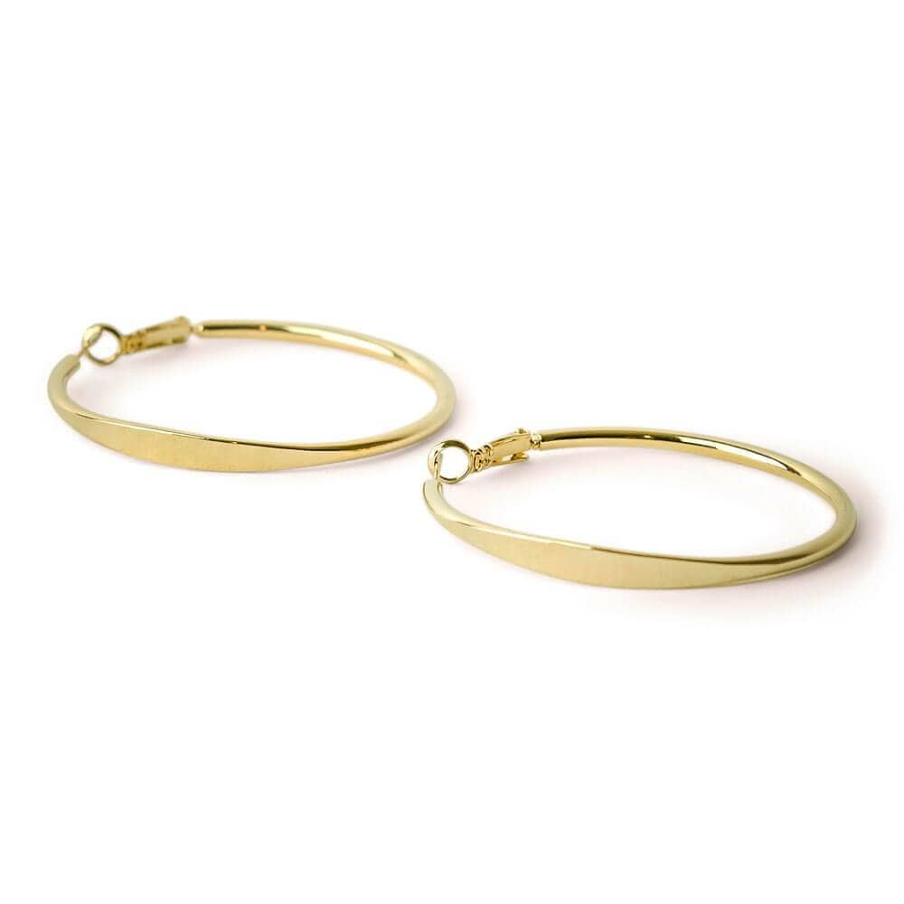 Sadie Gold Hoop 1MM MILK MONEY