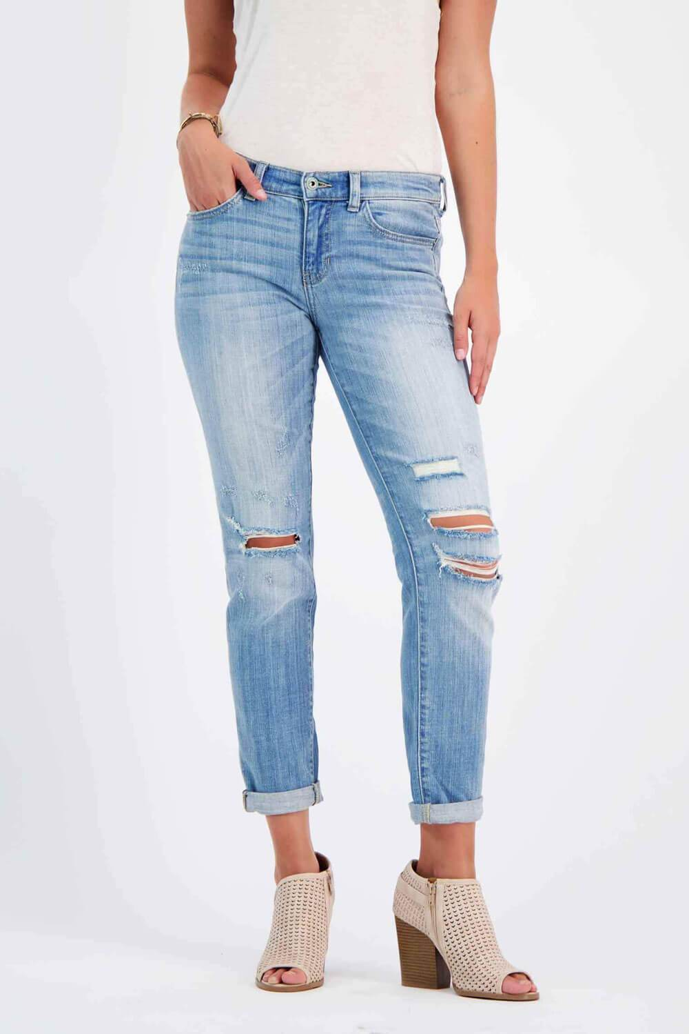 Sexy Boyfriend Jeans light wash - MILK MONEY