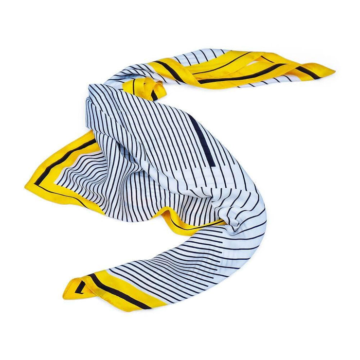 Silk Lines Scarf Yellow - MILK MONEY