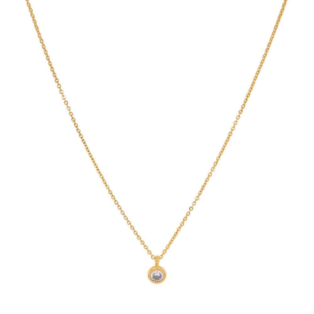 Single Solitaire necklace gold MILK MONEY