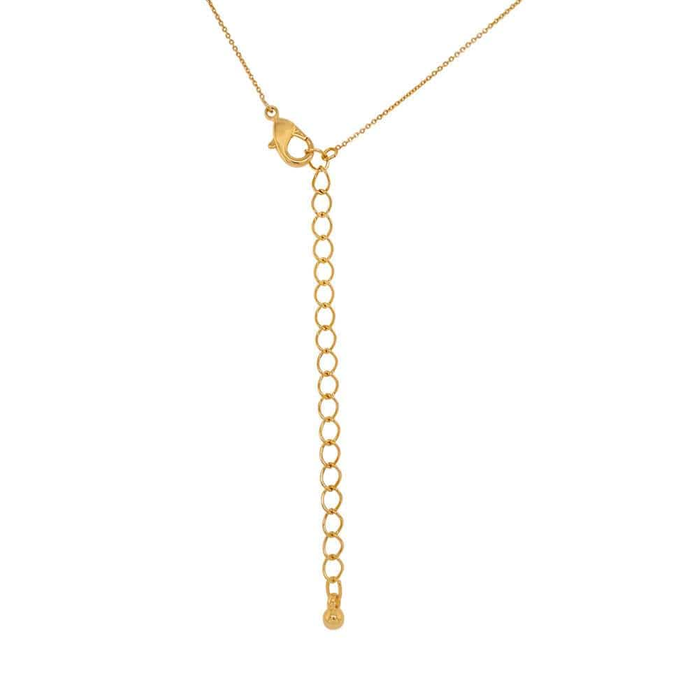 Single Solitaire necklace gold back MILK MONEY