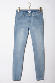 Skinny Mid Rise Light Wash Jeans