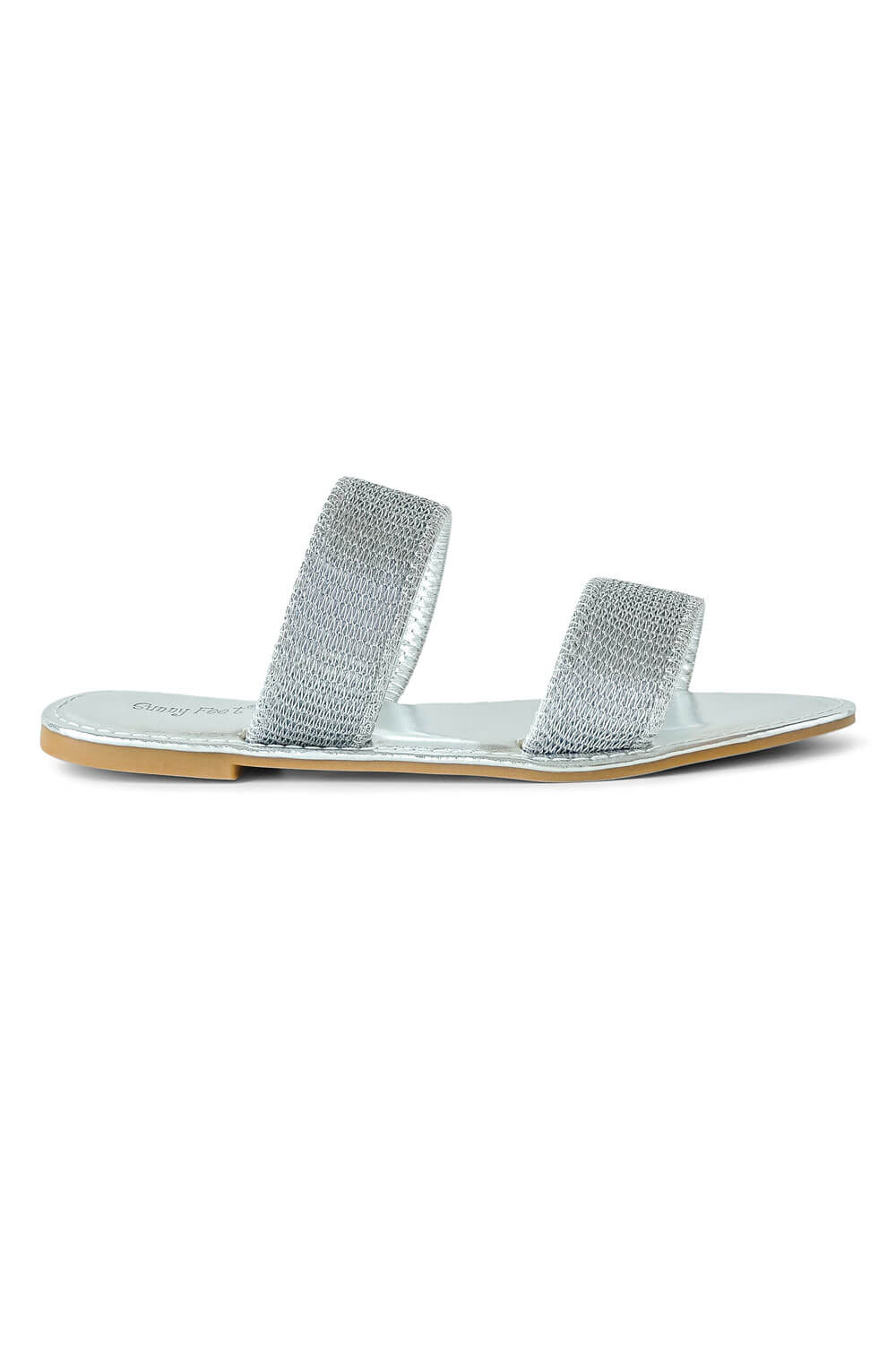 Skylar Coastline Sandal silver side - MILK MONEY