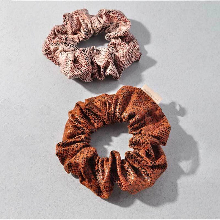Snakeskin Suede Scrunchie group MILK MONEY