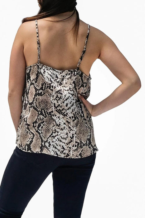Snakeskin V-Neck Cami back - MILK MONEY
